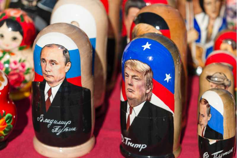 Putin and Trump as Russian dolls